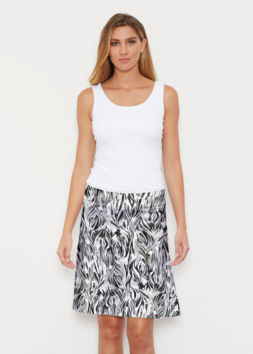 Watercolor Zebra (7664) ~ Silky Brenda Skirt 21 inch