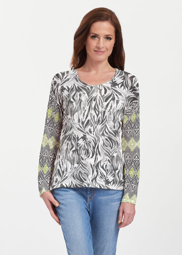 Watercolor Zebra (7664) ~ Texture Mix Long Sleeve