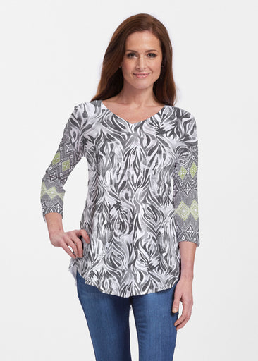 Watercolor Zebra (7664) ~ Signature V-neck Flowy Tunic