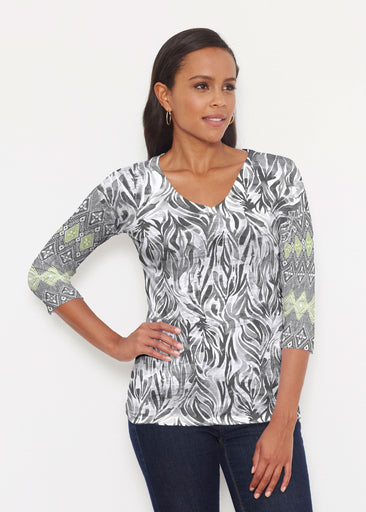 Watercolor Zebra (7664) ~ Signature 3/4 V-Neck Shirt