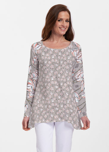 Tulips Multi Beige (7667) ~ Abigail Thermal Tunic