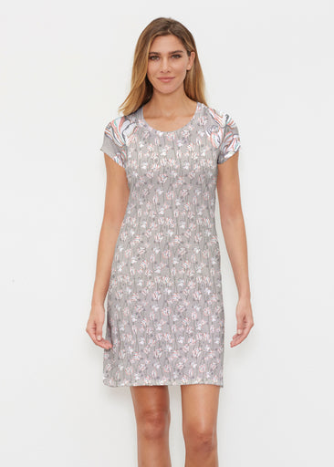 Tulips Multi Beige (7667) ~ Classic Crew Dress