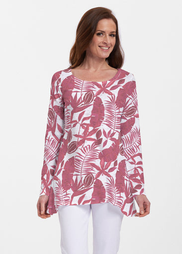 Painted Tropics Red (7672) ~ Abigail Thermal Tunic