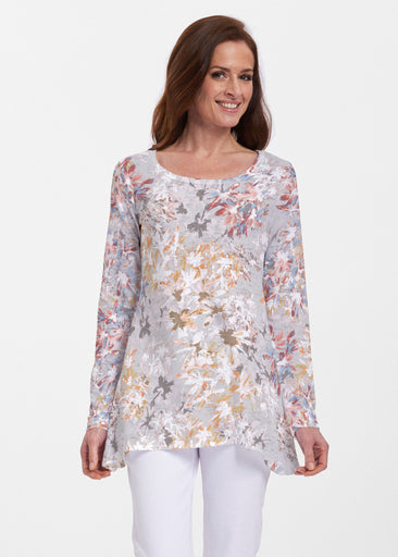 Floral Burst Beige (7674) ~ Abigail Thermal Tunic