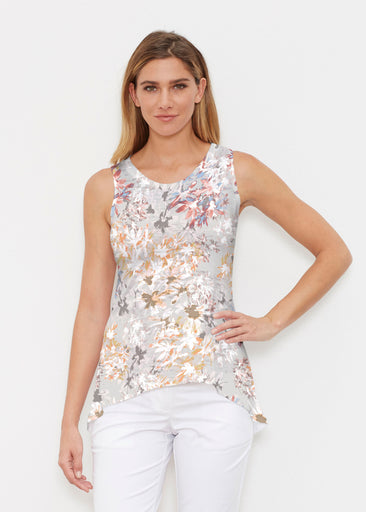 Floral Burst Beige (7674) ~ Signature High-low Tank