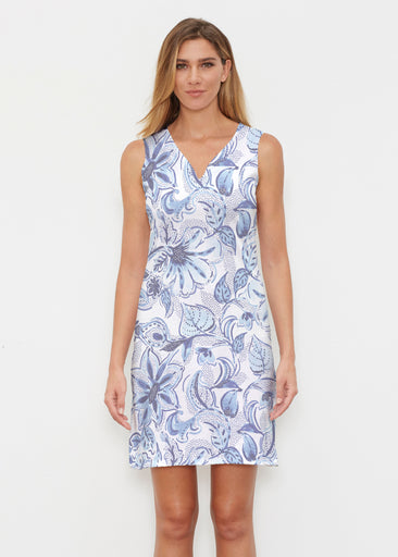 Baltic Watercolor (7677) ~ Classic Sleeveless Dress