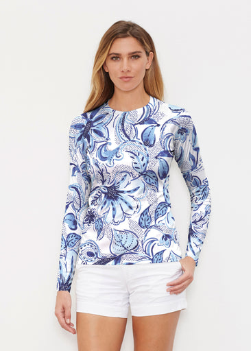 Baltic Watercolor (7677) ~ Long Sleeve Rash Guard