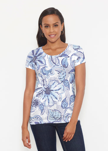 Baltic Watercolor (7677) ~ Short Sleeve Scoop Shirt