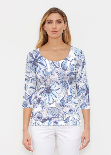 Baltic Watercolor (7677) ~ Signature 3/4 Sleeve Scoop Shirt