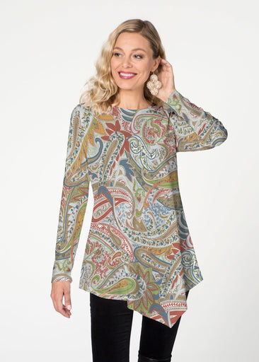 Provincial Paisley (7678) ~ Asymmetrical French Terry Tunic