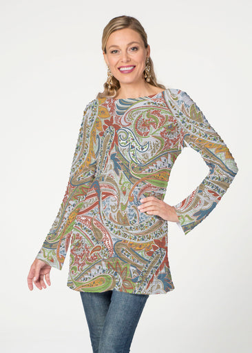 Provincial Paisley  (7678) ~ Banded Boatneck Tunic