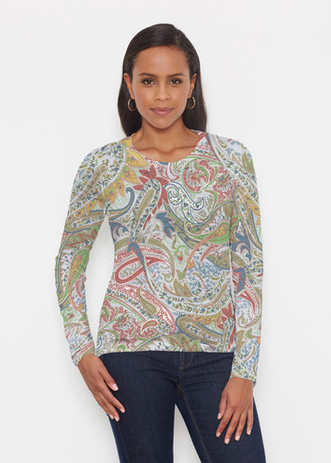 Provincial Paisley (7678) ~ Signature Long Sleeve Crew Shirt