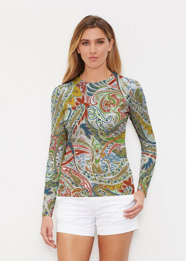 Provincial Paisley (7678) ~ Long Sleeve Rash Guard