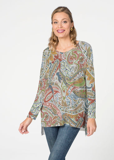 Provincial Paisley  (7678) Slouchy Butterknit Top