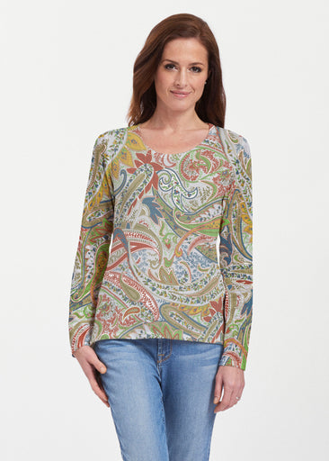 Provincial Paisley (7678) ~ Texture Mix Long Sleeve