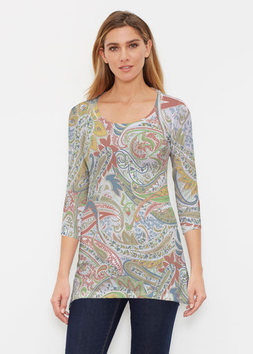 Provincial Paisley (7678) ~ Buttersoft 3/4 Sleeve Tunic