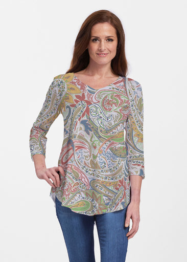 Provincial Paisley (7678) ~ Signature V-neck Flowy Tunic