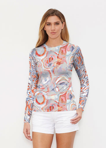 Marble Grey (7679) ~ Long Sleeve Rash Guard