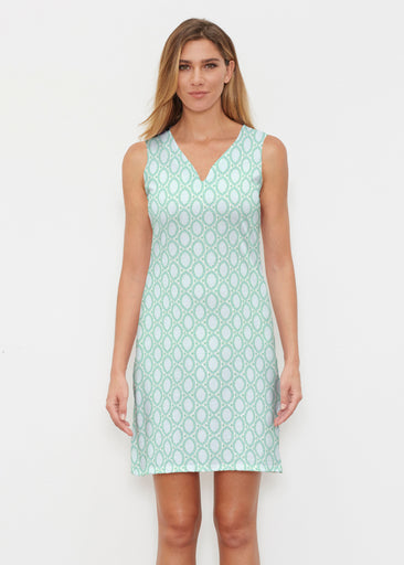 Coastal Lace Green (7686) ~ Classic Sleeveless Dress