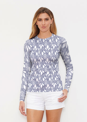 Dottie Combo Navy (7688) ~ Long Sleeve Rash Guard