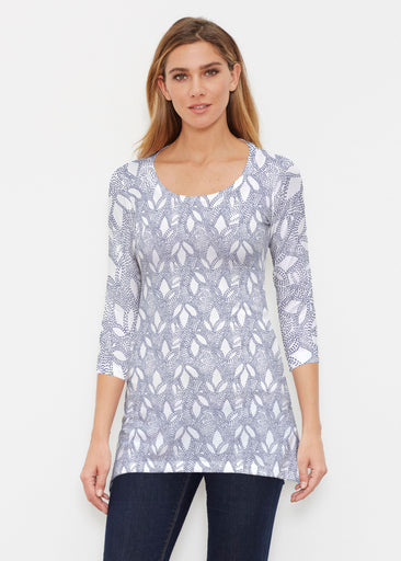 Dottie Combo Navy (7688) ~ Buttersoft 3/4 Sleeve Tunic