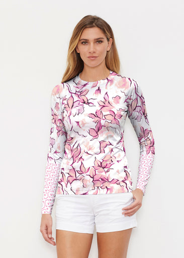 Edgy Rose Pink (7689) ~ Long Sleeve Rash Guard