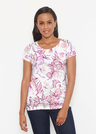 Edgy Rose Pink (7689) ~ Short Sleeve Scoop Shirt
