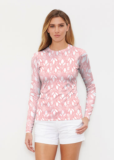 Dottie Coral (7699) ~ Long Sleeve Rash Guard