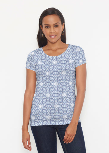 Toss Up Daisy (7716) ~ Signature Short Sleeve Scoop Shirt