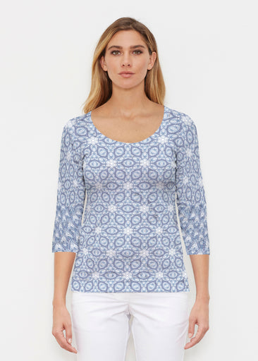 Toss Up Daisy (7716) ~ Signature 3/4 Sleeve Scoop Shirt
