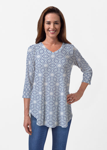 Toss Up Daisy (7716) ~ Butterknit V-neck Flowy Tunic