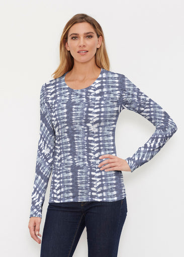 Electric Blue (7719) ~ Thermal Long Sleeve Crew Shirt