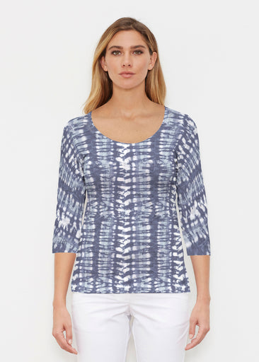 Electric Blue (7719) ~ Signature 3/4 Sleeve Scoop Shirt