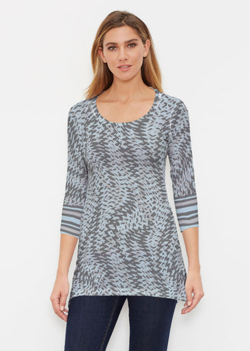 Textured Tracks Black (7720) ~ Buttersoft 3/4 Sleeve Tunic