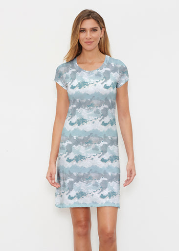 Textured Landscape (7722) ~ Classic Crew Dress