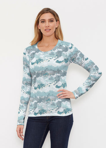 Textured Landscape (7722) ~ Thermal Long Sleeve Crew Shirt