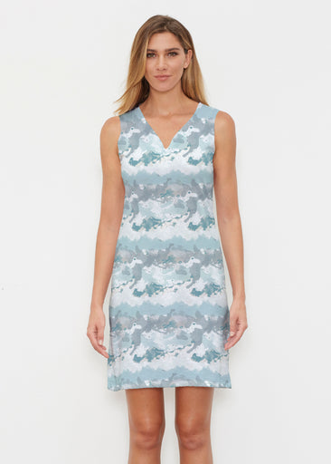 Textured Landscape (7722) ~ Classic Sleeveless Dress