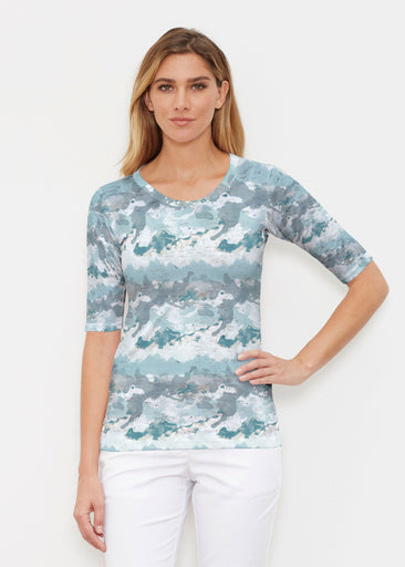 Textured Landscape (7722) ~ Signature Elbow Sleeve Crew Shirt