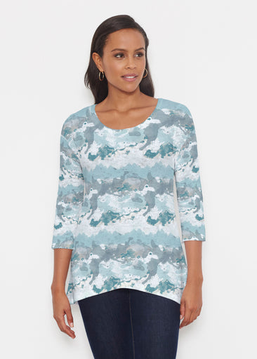 Textured Landscape (7722) ~ Katherine Hi-Lo Thermal Tunic