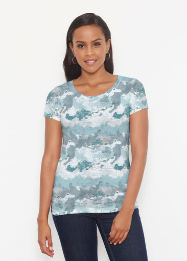 Textured Landscape (7722) ~ Signature Short Sleeve Scoop Shirt