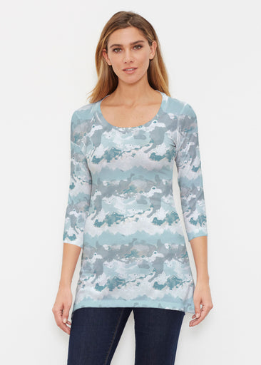 Textured Landscape (7722) ~ Buttersoft 3/4 Sleeve Tunic
