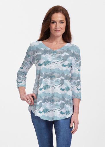 Textured Landscape (7722) ~ Signature V-neck Flowy Tunic
