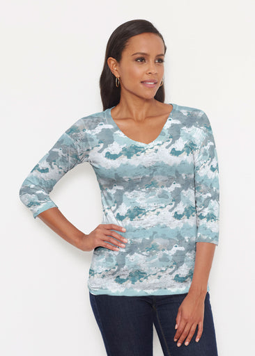 Textured Landscape (7722) ~ Signature 3/4 V-Neck Shirt