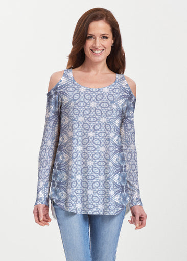 Picket Daisy (7729) ~ Butterknit Cold Shoulder Tunic