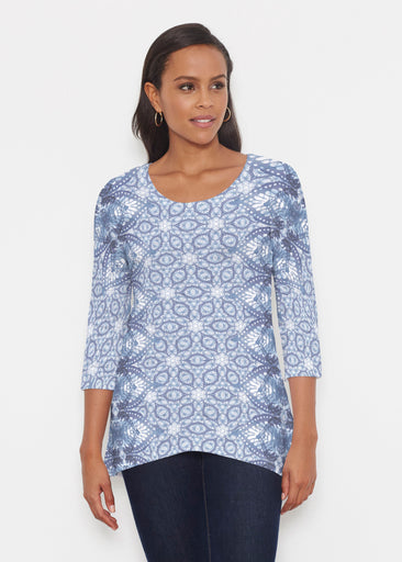 Picket Daisy (7729) ~ Katherine Hi-Lo Thermal Tunic