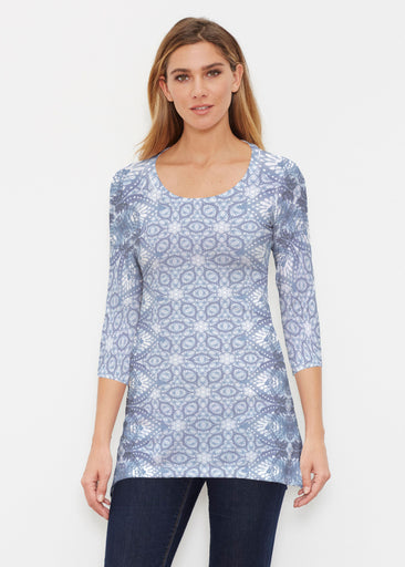 Picket Daisy (7729) ~ Buttersoft 3/4 Sleeve Tunic