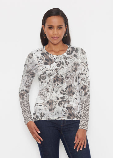 Tulip Leopard Multi (7731) ~ Signature Long Sleeve Crew Shirt