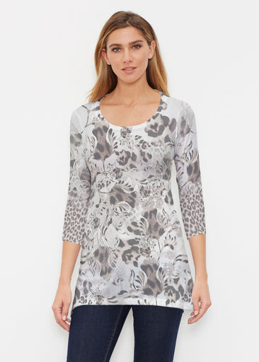 Tulip Leopard Multi (7731) ~ Buttersoft 3/4 Sleeve Tunic