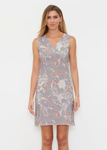 Melina Blooms Multi (7751) ~ Classic Sleeveless Dress