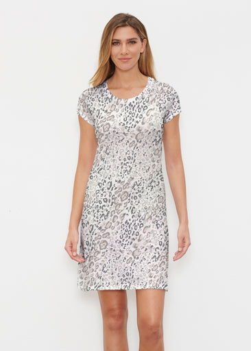 Greek Cat Grey (7752) ~ Classic Crew Dress